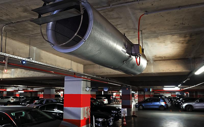 Car Park Ductless Jet Fan System